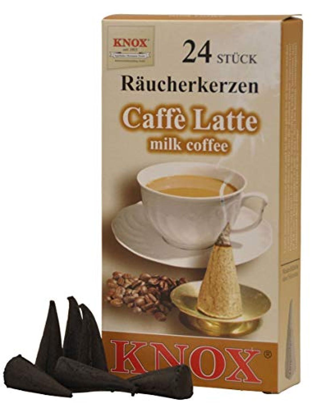 心臓つかまえるアルファベットKnoxコーヒー香りつきIncense Cones、24パック、ドイツ製