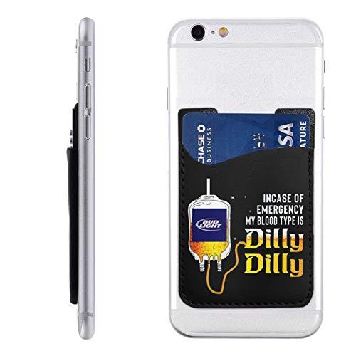 ステッカーポケット Bud Light Incase-of Emergency-My Blood-Type Is Dilly Dilly スマホカード収納 IPhone/Galaxy/Xperia/Huaweiなど 薄いPUカードケースー パース ケース カード入れ