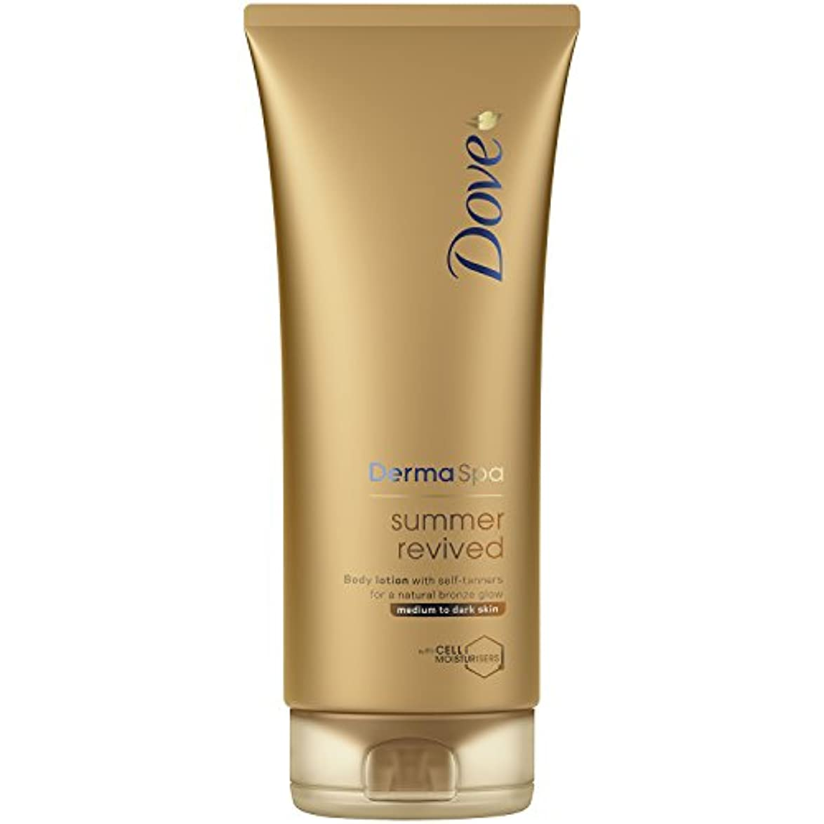 緩むチャンピオンしょっぱいDove Derma Spa Summer Revived Medium to Dark Skin Body Lotion 200 ml