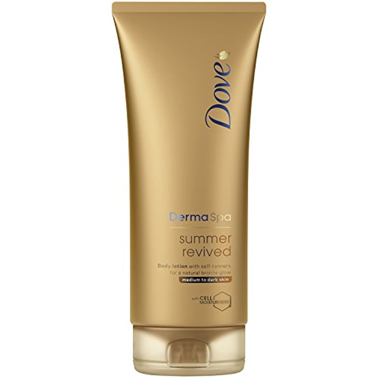 左ピーブカレンダーDove Derma Spa Summer Revived Medium to Dark Skin Body Lotion 200 ml