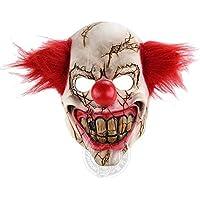 ホラーゴーストフェイスクラウンハロウィンクリスマス婚約バーダンスパーティー小道具Strange Latex Scary Mask