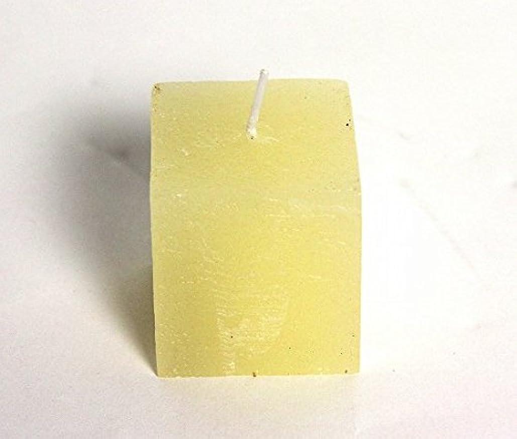 楕円形鎮静剤マザーランドkameyama candle(カメヤマキャンドル) ラスティクミニキューブ 「 アイボリー 」(A4921000IV)