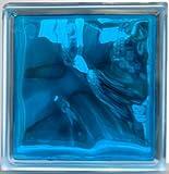 ガラスブロック190x190x95日本基準サイズクラウディインカラー スカイ ブルー青色gb41095