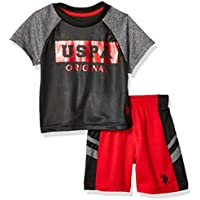 U.S. Polo Assn. Baby-Boys 2 Piece Short Sleeve Athletic T-Shirt and Short Set Shorts Set