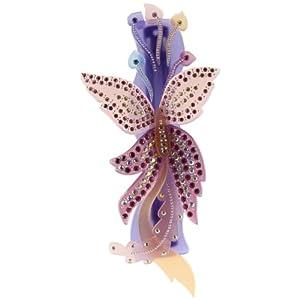 [キャラバン] Caravan ヘアアクセサリー ストーン 人工真珠 バタフライ バレッタ フランス製 1424