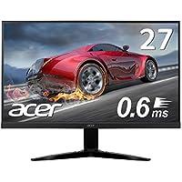 Acer ゲーミングモニター KG271Dbmiix 27インチ 0.6ms 75hz TN FPS向き フルHD 非光沢 フレームレス
