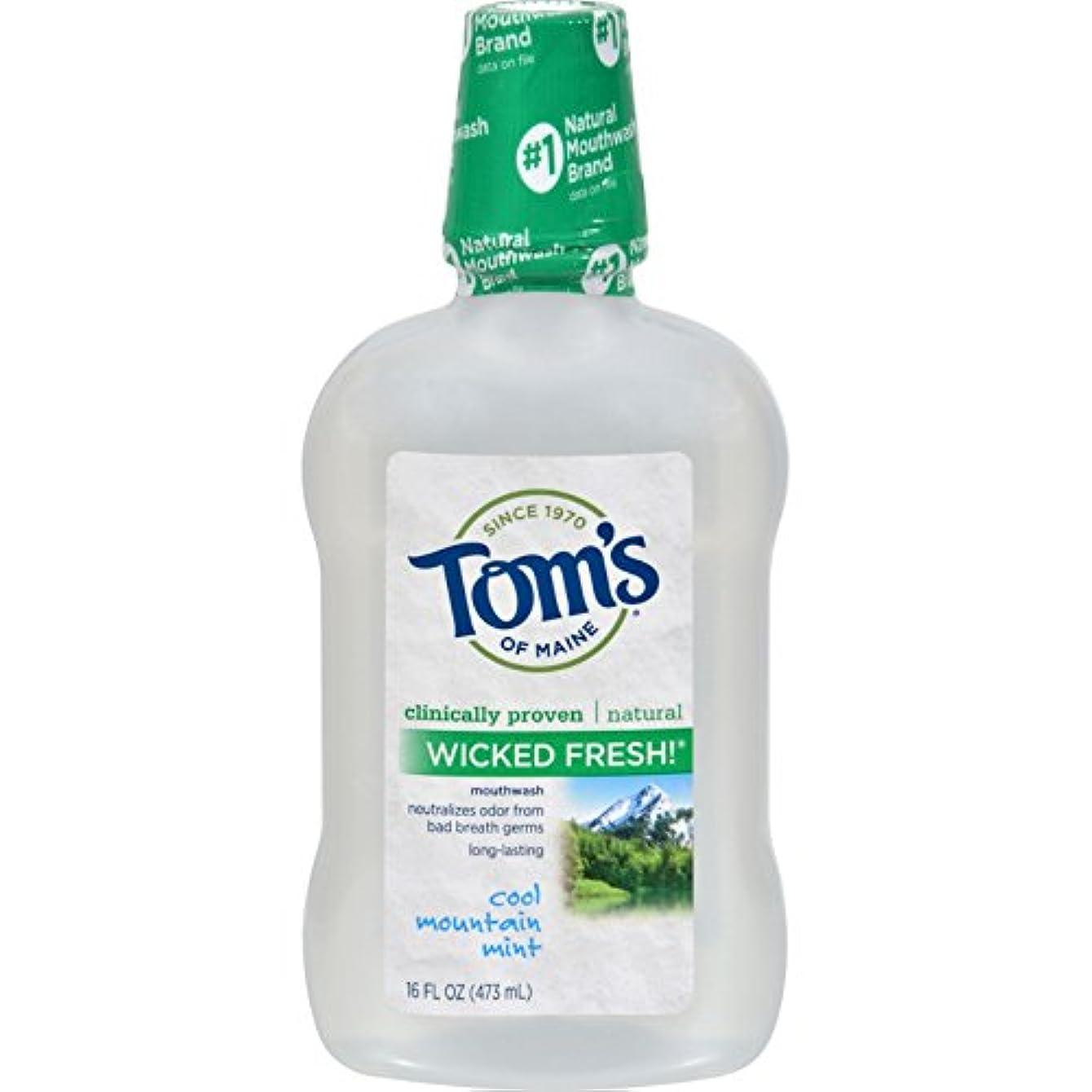 驚くべき特派員知覚できるTom's of Maine メインうがい薬WkdfrshミントMNのトムズ