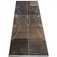 ヨガマットビンテージ木製バスケットボールコートスポーツ、トレーニング、ピラティスコースヨガマット 10mm 多機能高級スポーツ用ヨガマット