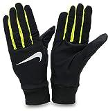 手袋 ランニング グローブ メンズ ドライフィット 軽量 薄手 防寒 ランナー ジョギング タッチパネル 対応 ナイキ/ドライ ライトウェイト メンズグローブ RN1034 (054-ブラック/ボルト, Mサイズ)