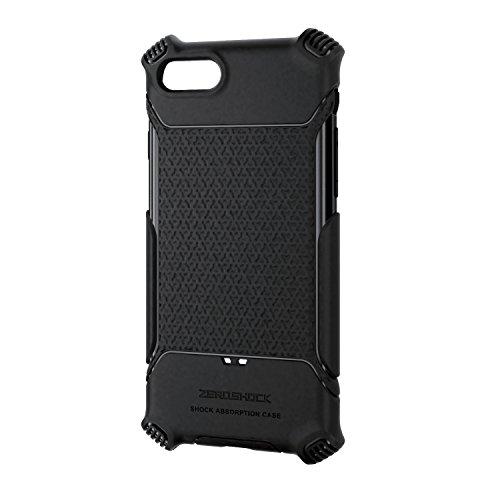エレコム iPhone7 / アイフォン7 衝撃吸収ケース グリップ ブラック PMWA16MHVGBK
