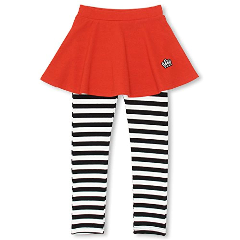 BABYDOLL(ベビードール) スカッツ スカート付 ウルトラストレッチパンツ 子供服 ベビー 100 14ボーダー/レッド