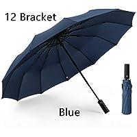Travel Folding Golf Umbrella,Teflon Umbrella Automatic Switch 12 Bone high Strength Fiberglass not Easy to Break Strong Wind, Strong Waterproof, Sunny and Rainy Dual Purpose Folding Umbrella.