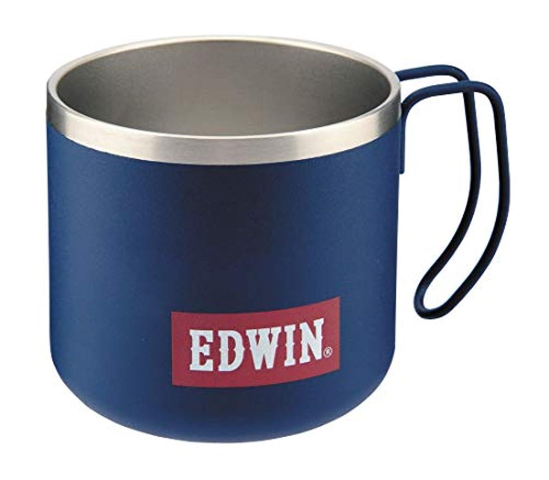 もう一度イルスリーブキャプテンスタッグ(CAPTAIN STAG) CS × EDWIN マグカップ コップ ダブルステンレス 真空断熱 保温?保冷 350ml UY-8508