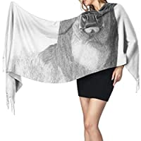 オジロ鹿シカの理髪の女性の毛布の冬のスカーフの暖かい覆いの特大ショール岬77x27インチ