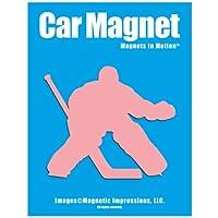 Ice Hockey Goalieカーマグネット ピンク HkygPK