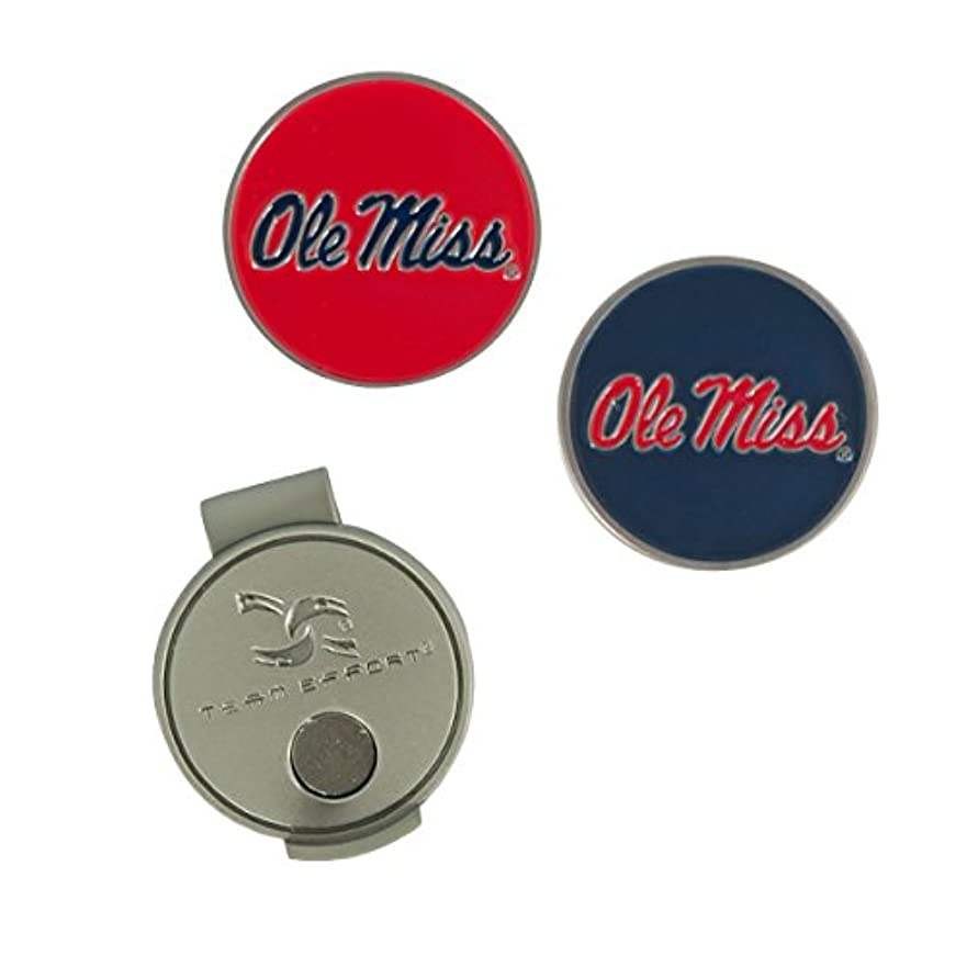 愛国的なバランスエンティティ(Mississippi Rebels) - NCAA Ole Miss Rebels Hat Clip and 2 Golf Ball Markers
