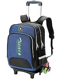 Zicac キャリーバッグ スーツケース キャンプバッグ トロリーバッグ ローラーが3個有り 分離可能リュック かわいい 子供バッグ キッズファッションバッグ 通学?旅行?キャンプ(ネイビー)