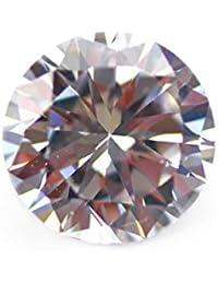 [ ハッピーボム ] キュービックジルコニア CZダイヤモンド ラウンド カット 裸石 穴無し 3個 セット売り 直径 15mm インテリア ディスプレイ パワーストーン