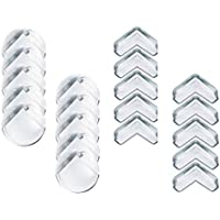 Te Fiti 家具コーナーガード 透明 角 保護 20個セット(L型10個、丸型10個)