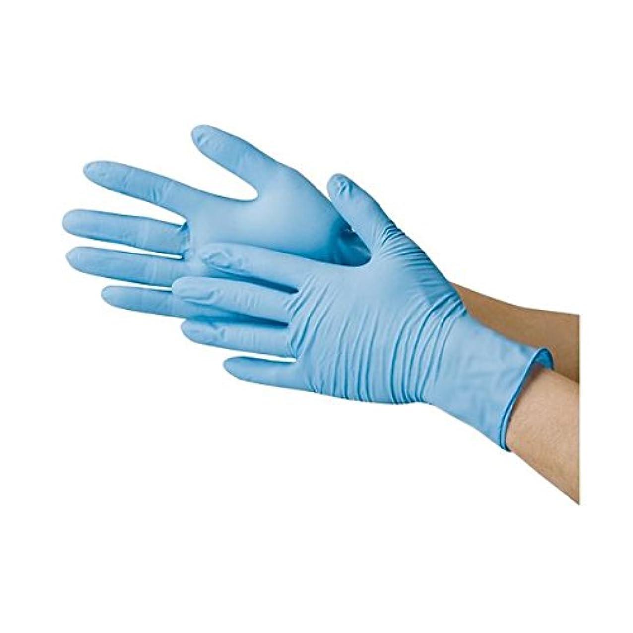 川西工業 ニトリル極薄手袋 粉なし ブルーM ds-1915807
