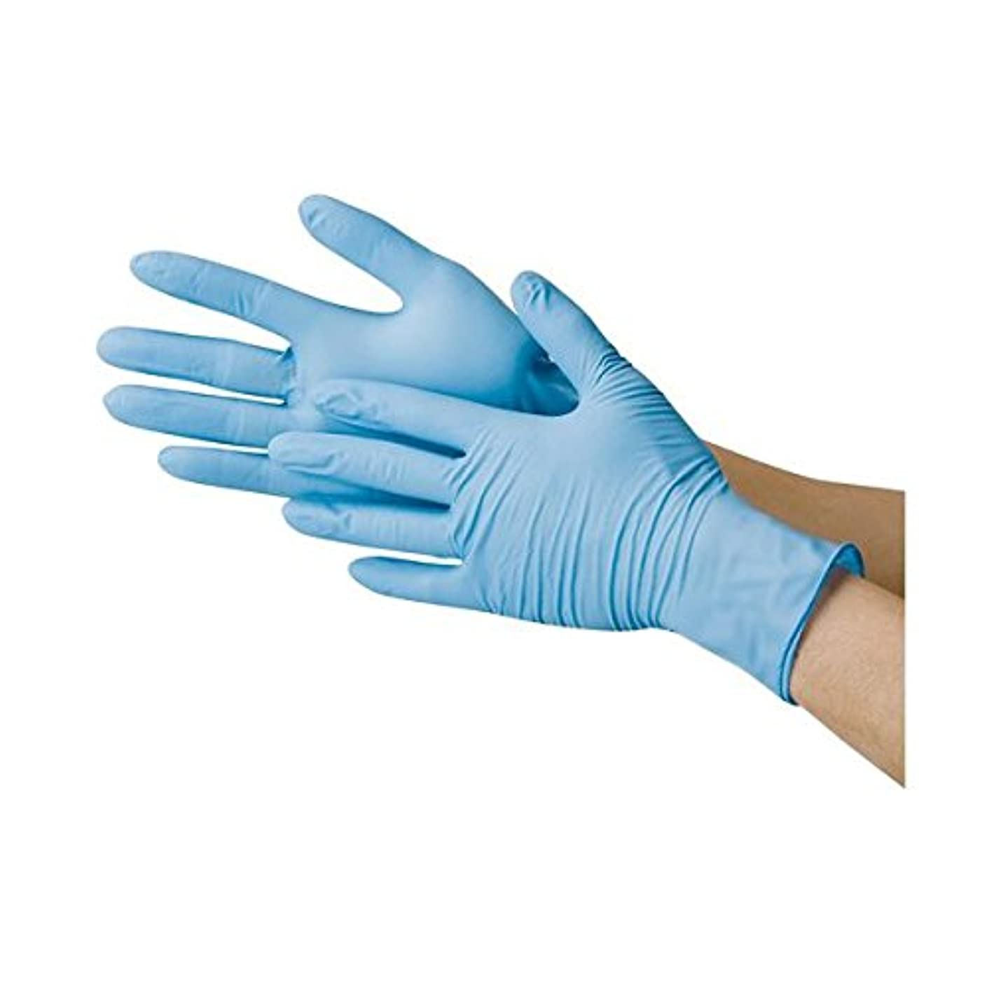 名門アクセス控える川西工業 ニトリル極薄手袋 粉なし ブルーM ds-1915807