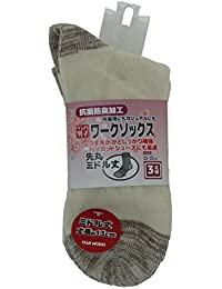 高田商事 ワークソックス スターワークス 先丸 キナリ ミドル丈 25~27cm
