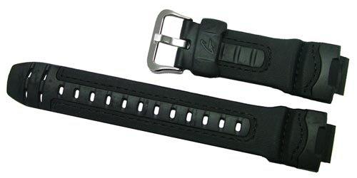 Casio g-314rlブラックレザーと樹脂交換用時計スト...
