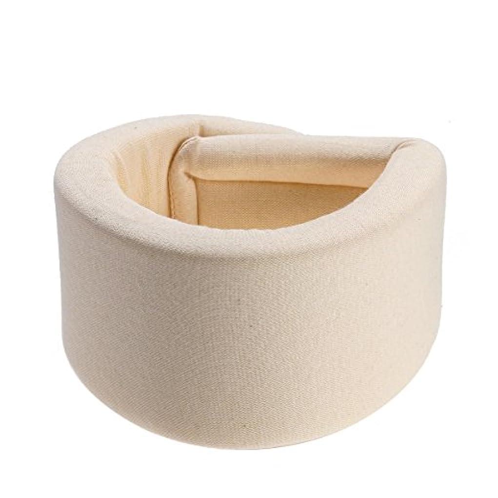 コーヒー岸不従順HEALLILY 首装具サポートスポンジ頚部襟首の痛みを防ぐ首のケアの姿勢補正機能(ベージュ) - サイズXL
