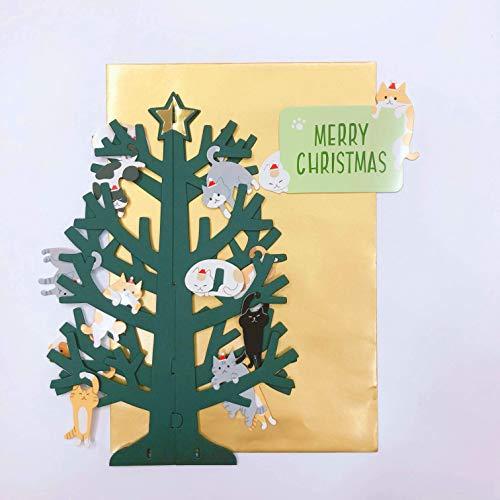 『サンリオ クリスマスカード 洋風 立体 ネコツリー S7193』の3枚目の画像