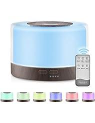 加湿器 アロマディフューザー 超音波式 卓上加湿器 アロマ 700ml 7色LEDライト変換 間接照明 空焚き防止 お部屋/オフィス/温泉など適用 誕生日プレゼント