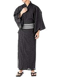 [キョウエツ] 浴衣セット いなせ G 6点セット(浴衣、帯、下駄、信玄袋、腰紐、扇子) メンズ