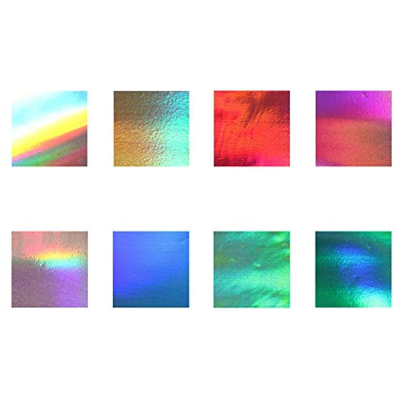 ファンシーシャーロックホームズロータリーネイルアート ネイルホイル -8色セット-【 ノーマル】ジェルネイル セルフネイル レジン マニキュア ネイルホイル 箔