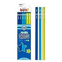 かきかたえんぴつ(六角・男の子)2B ポップ体風 花 彫刻 KB-KPM04-2B トンボ鉛筆 ippo! 名入れ無料 名入れ えんぴつ 鉛筆