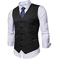 AOYOG Mens Formal Business Vest for Suit Tuxedo
