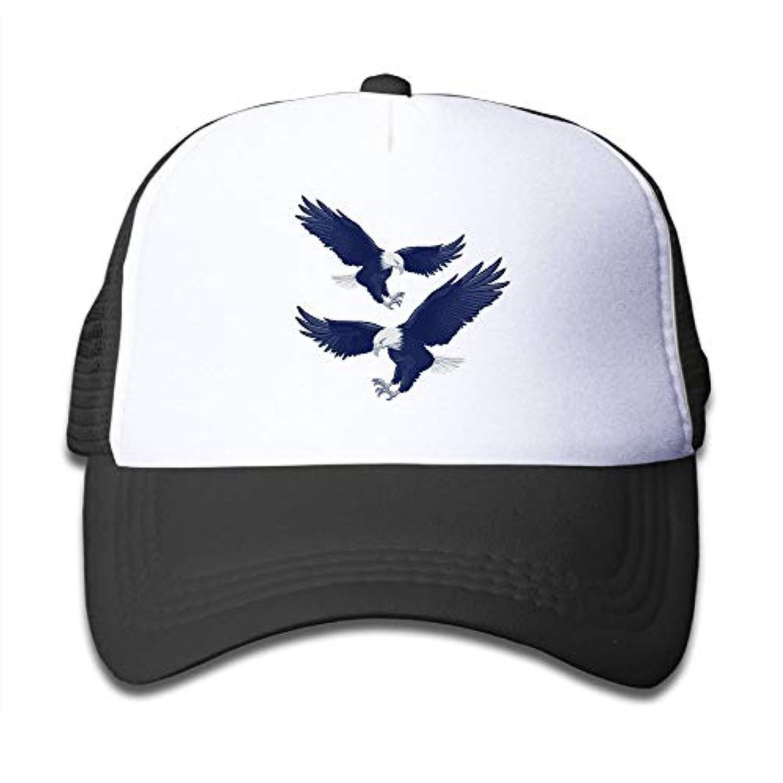 ダーク ブルー イーグル 素敵 かわいい おもしろい ファッション 派手 メッシュキャップ 子ども ハット 耐久性 帽子 通学 スポーツ