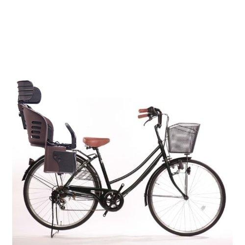 Lupinusルピナス 自転車 26インチ LP-266UD-KNRJ-BR 軽快車 シマノ外装6段ギア ダイナモライト 樹脂製後子乗せブラウン (グリーン)