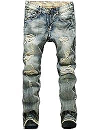 (ベクー)Bekoo メンズ デニム パンツ ダメージ加工 gパン ビンテージ USED加工 デザイン ジーンズ