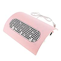 Perfk ネイルダストコレクター クリーナー プロ ネイルサロン 全4色 - ピンク