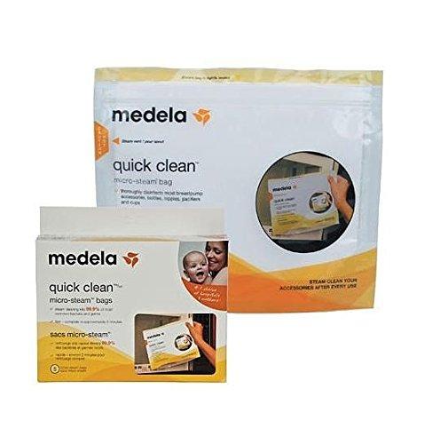 メデラ(medela) 電子レンジ除菌バッグ(5パック) クイッククリーン スチームバッグ 簡易日本語説明書付...