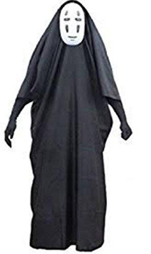 CWU 千と千尋の神隠し カオナシ 風 衣装セット (衣装、マスク、手袋) コスチューム 男女共用 Lサイズ