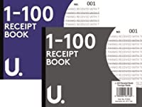 5x A6 Receipt Books Carbon Duplicate Cash Invoice Pad 1-100 Numbered Pages