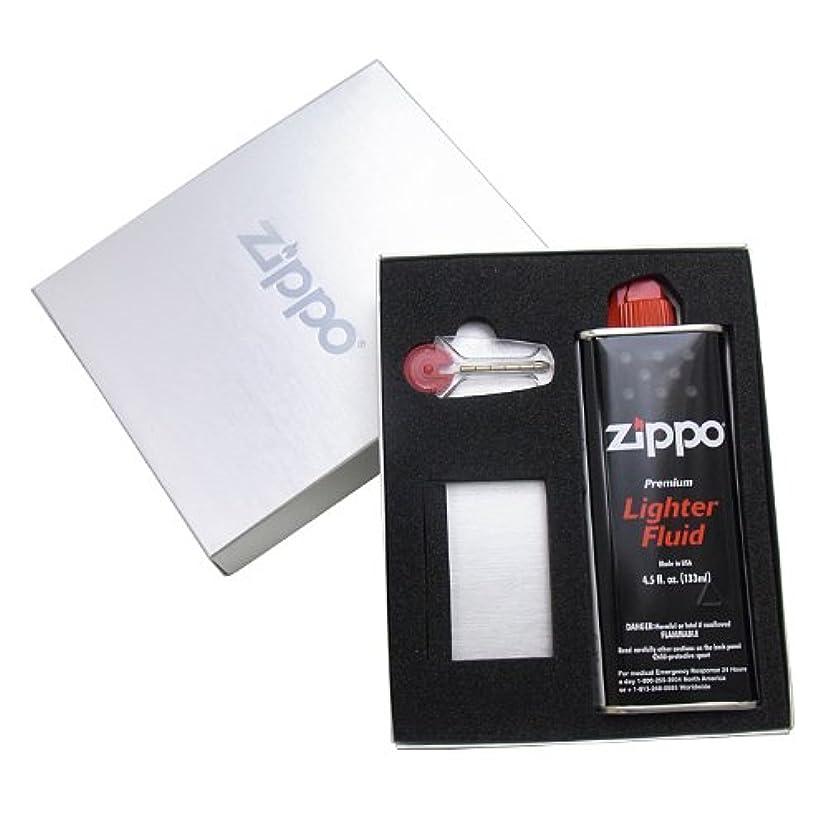 含むやりがいのある誠意ジッポー ライター専用ギフトボックス(オイル小?フリント付) ロゴ箱シルバー