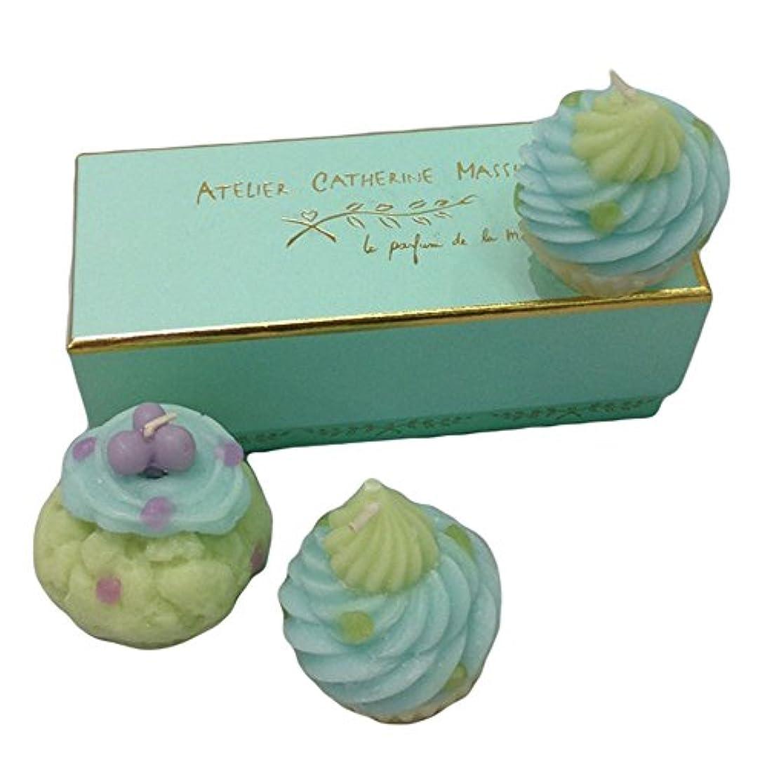 ソートビヨン環境カップケーキキャンドル3SET(グリーン)