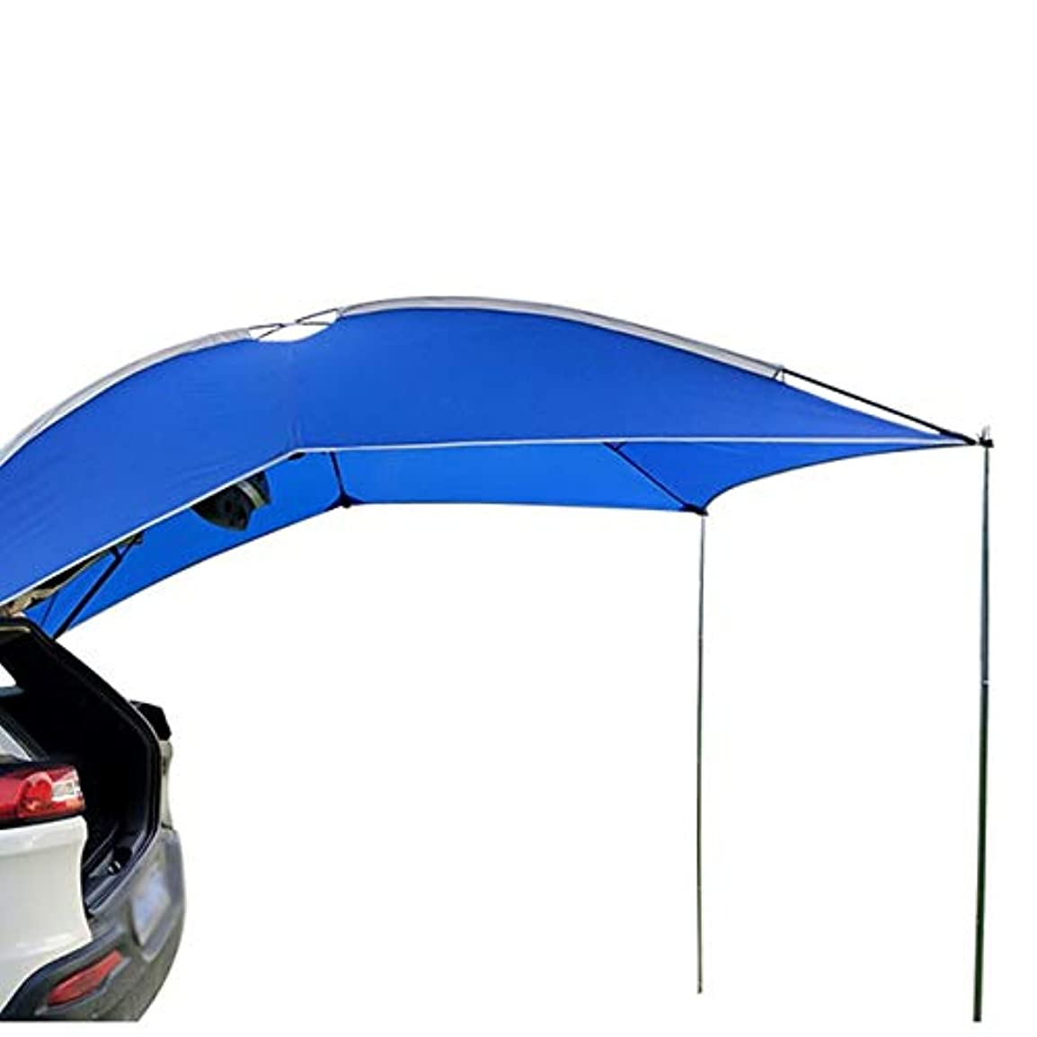 仮定、想定。推測鰐よろしくキャンプのための3-4人アウトドアキャンプ車のテール屋上のテントキャノピーオーニング日シェルタービーチSUVキャンピングカーオーニングカバーテント (Color : Blue)