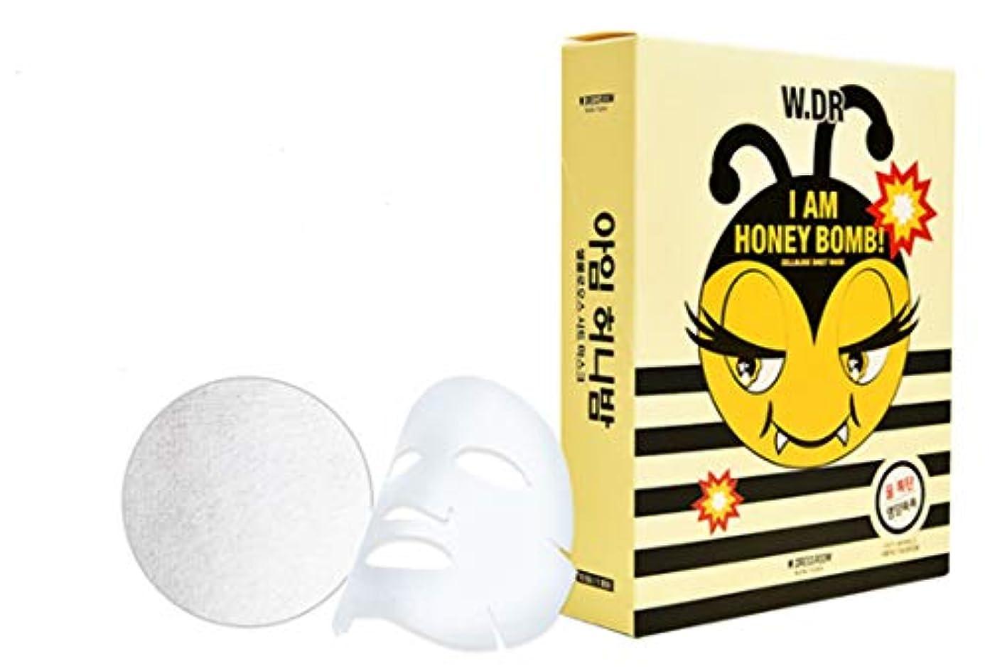 ぺディカブそれによって一生W.DRESSROOM I am honey bomb cellulose sheet mask 10ea 乾燥した肌に潤い爆弾!栄養爆弾!(海外直送品)