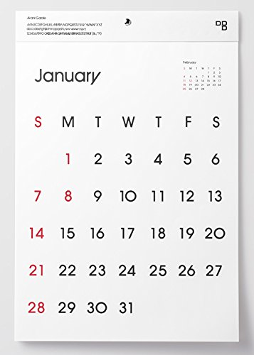 ディーブロス 2018 タイプフェイスカレンダー壁掛け