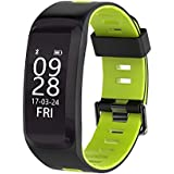 IP68 Waterproof Fitness Tracker Activity Bracelet with Heart Rate Monitor, Pedometer, Calorie, Blood Pressure, Blood Oxygen, Bluetooth 4.0 Smart Band for Android / IOS, iPhone 8, iPhone X