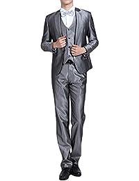 61880452bbc04 Amazon.co.jp  シルバー - スーツ・ビジネスウェア   メンズ  服 ...
