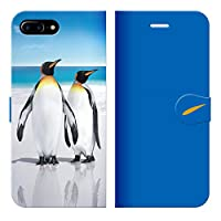 iPhone8Plus 7Plus 6sPlus 6Plus ベルトなし 手帳型 ケース カバー キングペンギン 21 あまみ藤奈 ペンギン