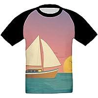 ドリフトボート かっこいい ベビー フロントプリント半袖 Tシャツ快適 子供 夏 トップ おもしろい 上着